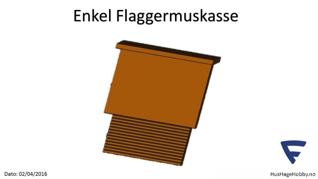 F16040205 - Enkel Flaggermuskasse Fremside