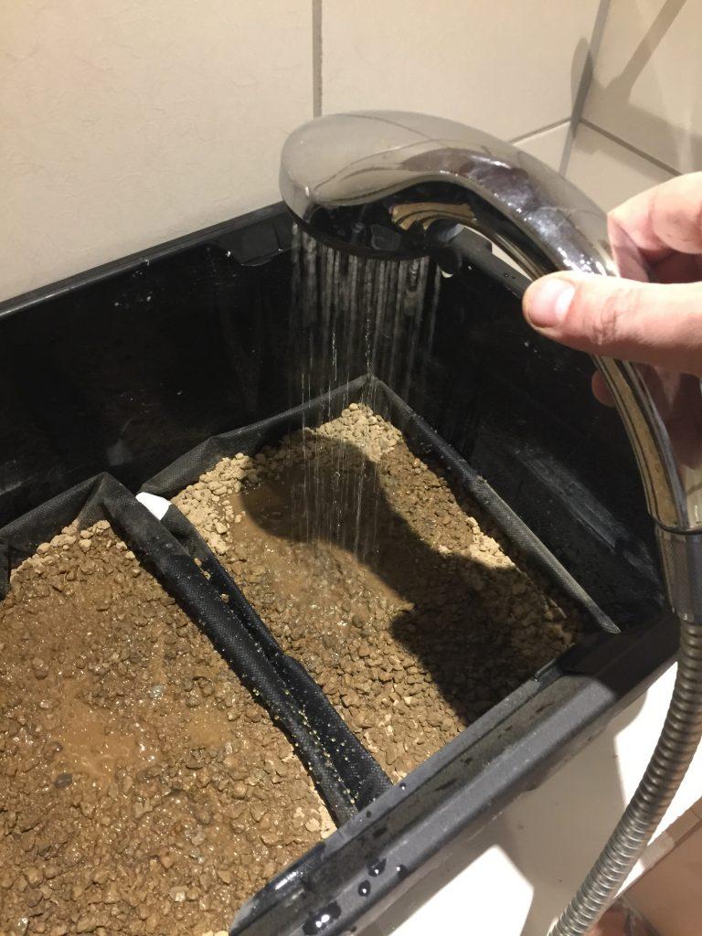 Vannpåfylling med dusj