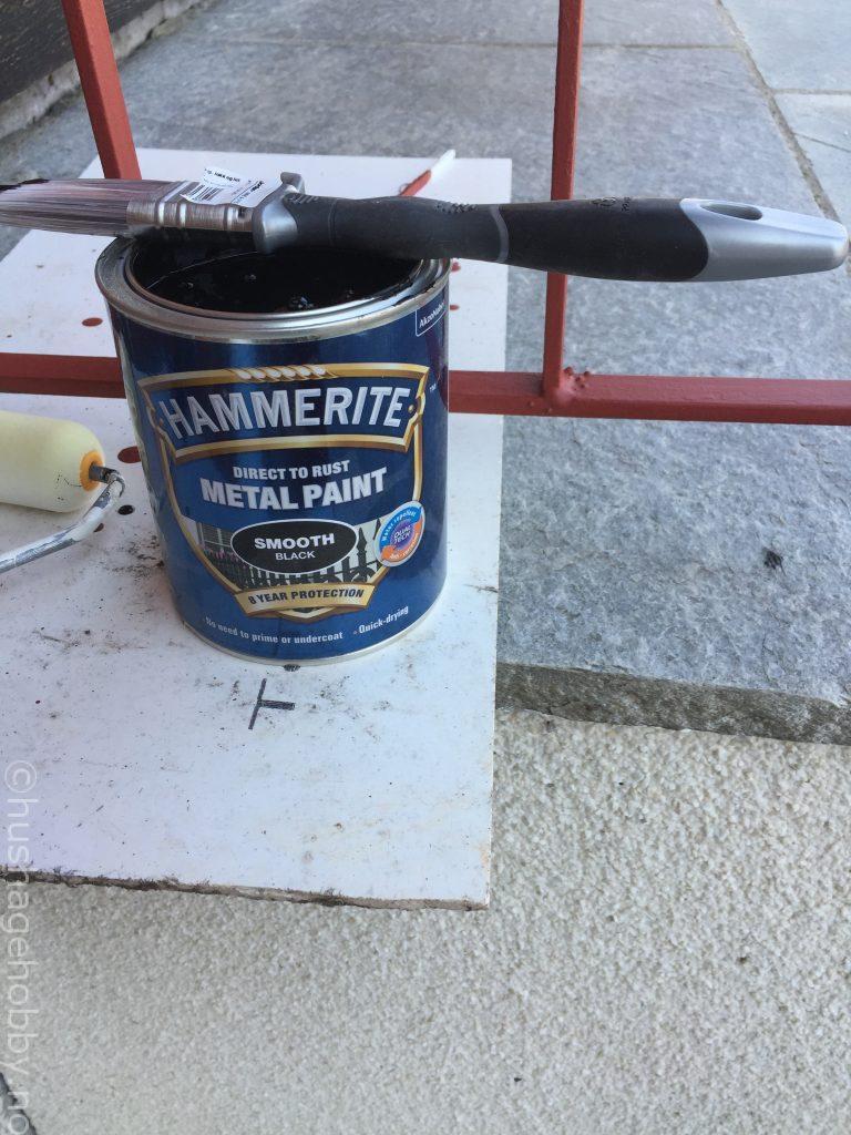 Hammerite Svart og pensel