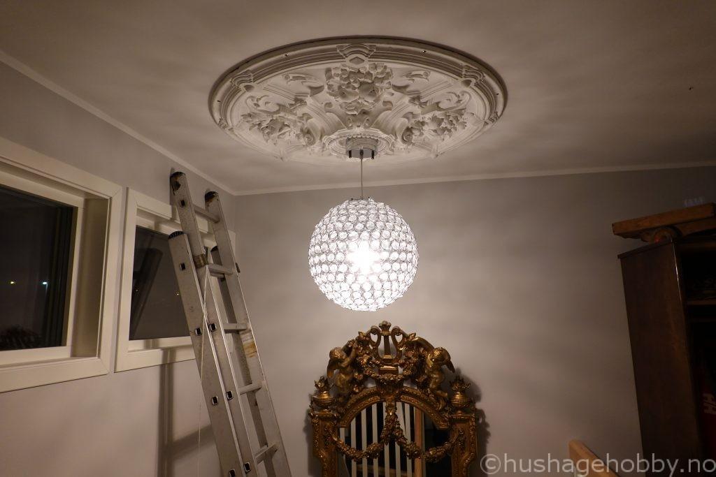 takrosett med lampe