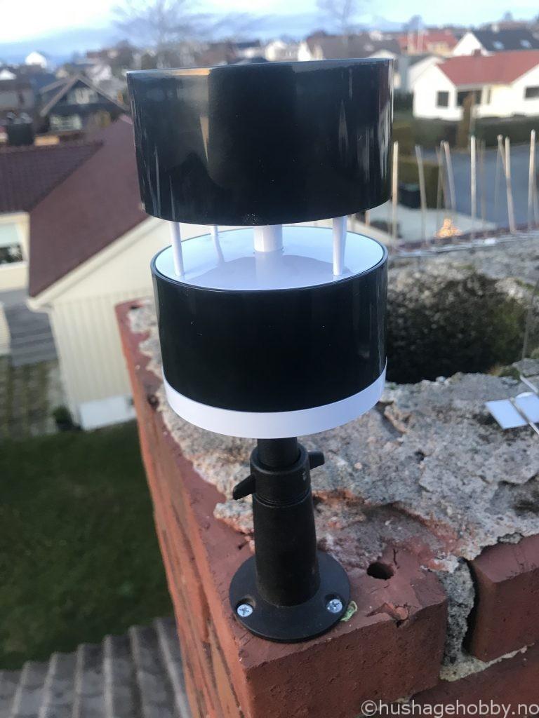Netatmo Vindmåler Installert på pipe